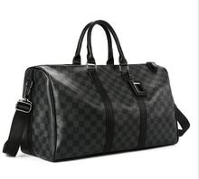 Classic Plaids Poker Pattern Travel Duffle Bag Business City Commuter Sport Gym Outing Premium PU Luxury Designed Men Pack