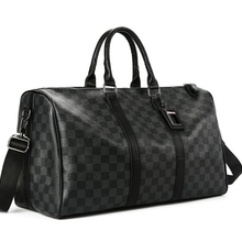 Classic Plaids Poker Pattern Travel Duffle Bag Business City