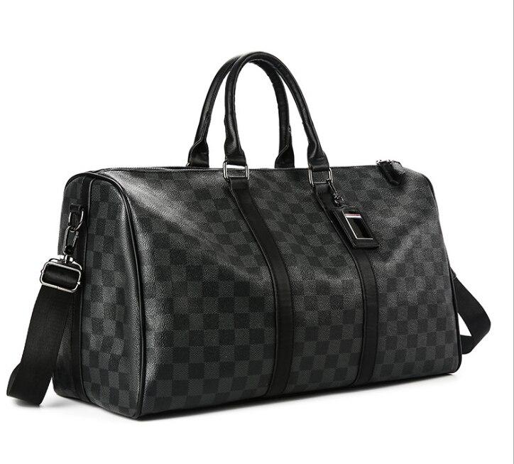 Classique Plaids Poker modèle voyage sac de voyage d'affaires ville banlieue Sport Gym sortie sac Premium PU luxe conçu hommes Pack