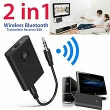 Bluetooth 5,0 передатчик и приемник 2-в-1 Беспроводной аудио Aux 3,5 мм адаптер