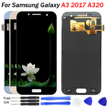 4.7 inch A320F LCD For Samsung A3 2017 Display Touch Digitizer Assembly Adjustable brightness