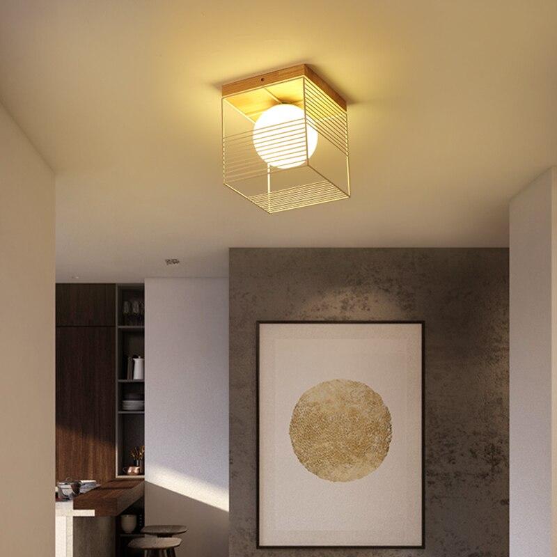 luminaria de teto em madeira led candelabro 04