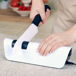 Image 5 - RISAMSHA חשמלי סכין מחדד מקצועי יהלומי סכין מחדד להב חידוד מטבח כלים חידוד מערכת