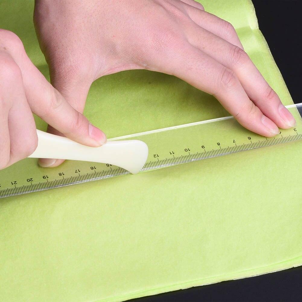 New DIY Scrapbooking Card Making Photo Album Paper Folding Tool Letter Opener 2pcs/set Paper Creaser Set Crafts Edge Side Slicer
