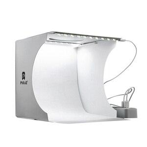 Image 4 - Folding Portable Photo Studio Box Dual LED Panels Photography Softbox with 6 Backdrops  light box Studio Shooting Tent Box Kit