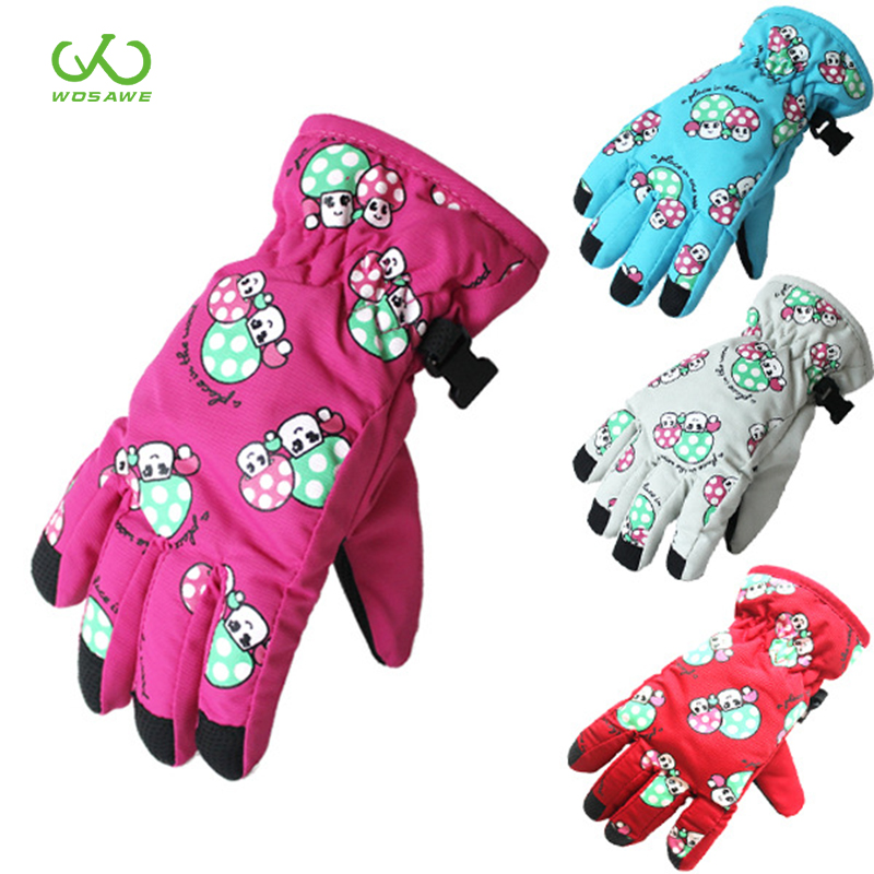 Children Boys Girls Winter Warm Snowboarding Ski Gloves Kids Snow Mittens Waterproof Skiing Breathable Glove