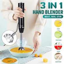 3-in-1 Immersion Hand Stick Blender Mixer 300W 2 Speeds Electric Food Vegetable Grinder Egg Beater Kitchen DIY Hand Blender