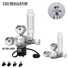 ZRDR DIY aquarium CO2 regulator, solenoid valve kit with bubble counter, CO2 control system for aquatic plant growth AC110-220V
