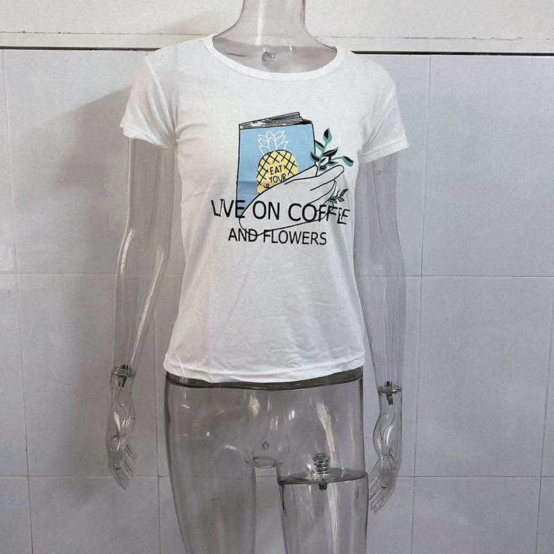 Dropshipping 미적 90s 패션 t 셔츠 여성 하라주쿠 티셔츠 그래픽 재미있는 만화 tshirt streetwear 탑 티즈 여성 2020