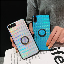 Sequin Ring Stand Phone case For iPhone X 7 8 6 S 6S Plus Bling Glitter Case for XR XS Max Cover Coque Fundas