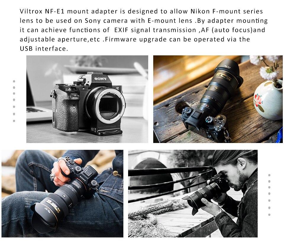 NF-NEX foco automático adaptador de lente eletrônica