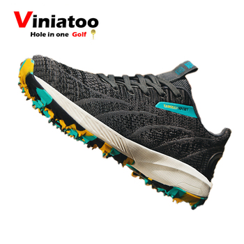 New Men Breathable Golf Sneakers Outdoor Light Weight Spring Autumn Golf Shoes Anti Slip Comfortable Athletic Sneakers