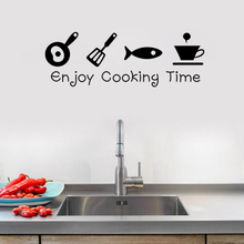 Enjoy Cooking Time DIY Kitchen Restaurant Wall Stickers Decal Home Decor Decoration Wall Art Poster Relax Your Time цена 2017