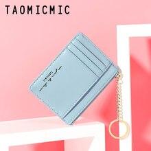 Neue Frauen Brieftaschen Zipper PU Leder Geldbörse Mini Schlüssel Kette Kleine Brieftasche Multi-karte Bit Halter Karte halter