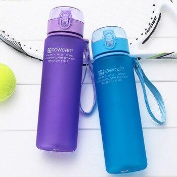 Butelka wody 400ML 560ML plastikowy napój odkryty Sport szkoła szczelne zamknięcie gurda wspinaczka butelki Shaker butelki na wodę prezenty.