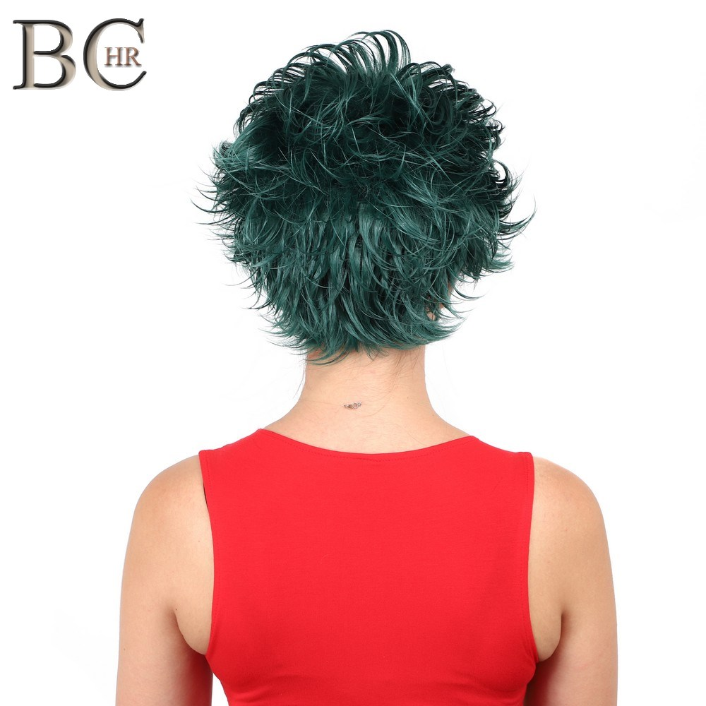 Image 2 - BCHR Short Anime Cosplay Deku Wigs Dark Green Synthetic Wig for My Boku no Hero Academia Midoriya Izuku Costume Wig-in Synthetic None-Lace  Wigs from Hair Extensions & Wigs