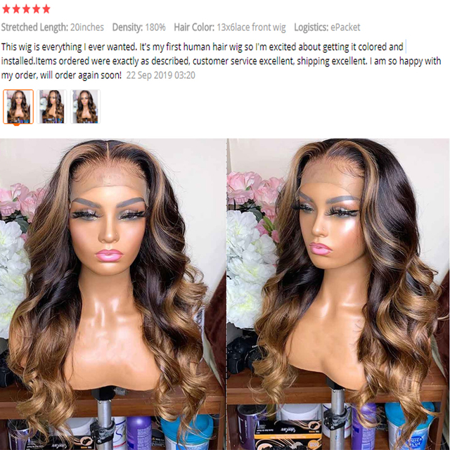 13x6 Deep part Lace Front Human Hair Wigs 180% Density Brazilian Remy Wavy Human Hair Pre-Plucked Hairline Dream Beauty 4