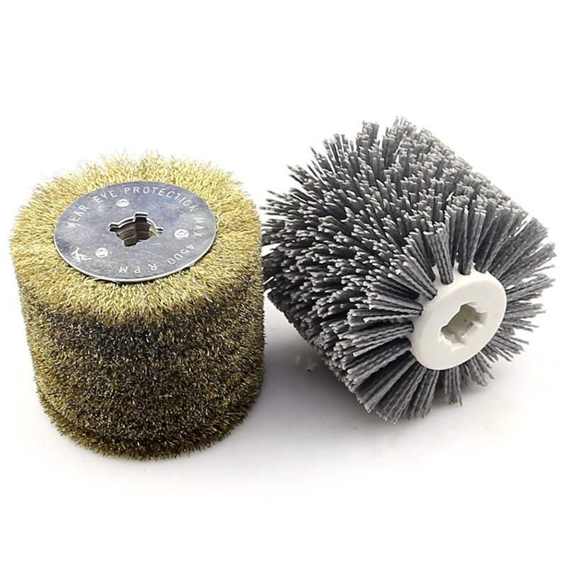 Polisher Promotion! 2 in 1 Woodwooking Polishing Wheel Brush 120x100x19Mm Drum Sander Tools for Woodworker