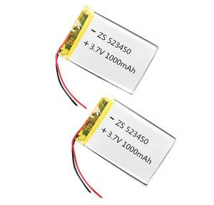Image 2 - 100% מקורי 1/2pcs 3.7V 1000mAh פולימר ליתיום נטענת סוללה נטענת עבור טלפון חכם DVD MP3 MP4 Led מנורה