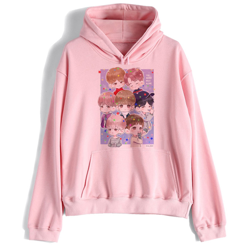 Bangtan Boys Sweatshirt Women K Pop Streetwear Hoodie JIN SUGA J HOPE JIMIN V JUNGKOOK Korean Hood Kpop Clothes Hooded