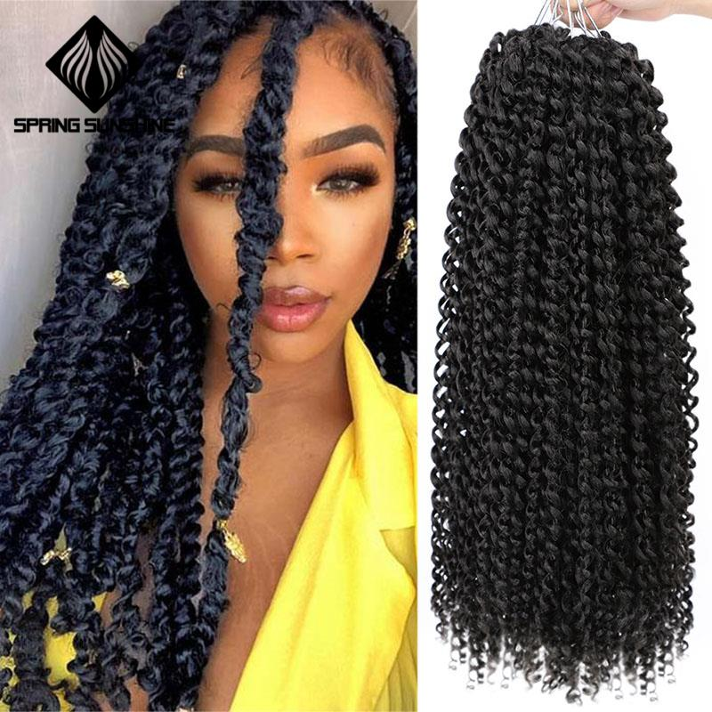 Long Passion Twist Hair 18inch Synthetic Pre Twist Crochet Braid Hair Extension Kinky Hair