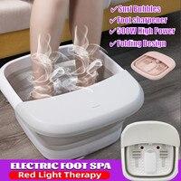 Cubo de pies plegable con calefacción, masajeador de pies para baño de pies para Spa con calefacción infrarroja, baño de pies, Sauna para el hogar, 5.7L
