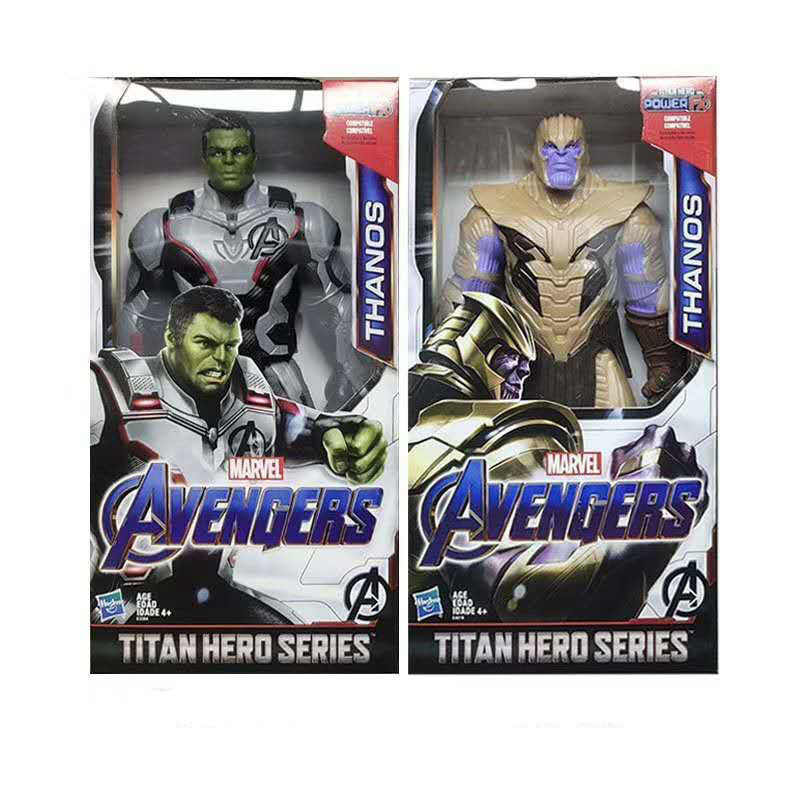 Vingadores 4 Pessoas 12-polegada Verde Gigantes Lutando Homem De Ferro Homem-Aranha Patriotas Brinquedos Presentes
