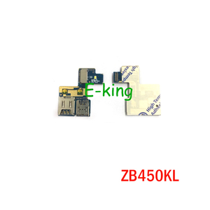 Лоток для считывания Sim-карт для ASUS Zenfone Go ZB450KL держатель карты памяти Micro SD слот гибкий кабель запасные части