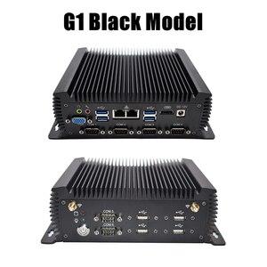 Image 3 - Eglobal G سلسلة الصناعية بدون مروحة كمبيوتر صغير Win10 إنتل i7 i5 i3 2955U 2 * إنتل Lans 6 * COM USB كمبيوتر مصغر لينكس 4G واي فاي HDMI