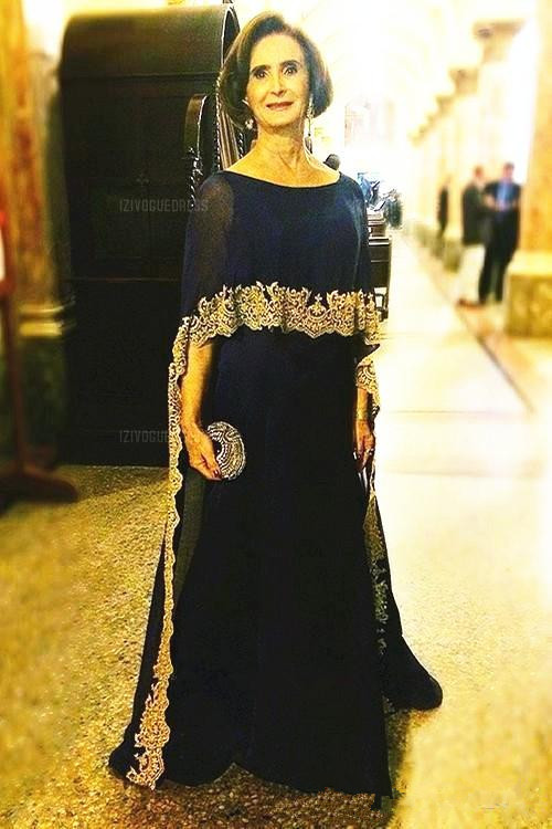 Black With Gold Lace Mother Of The Bride Dresses With Wrap 2019 Mermaid Women Evening Dress Formal Occasion Wedding Guest Gown