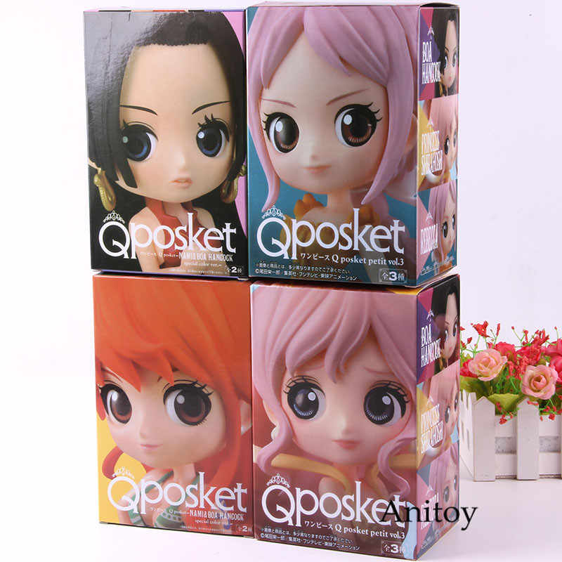 Boa Hancock Nami Shirahoshi Rebecca Qposket One Piece Figura Q Posket One Piece Action Figure Model Collection Toy 4 pçs/set