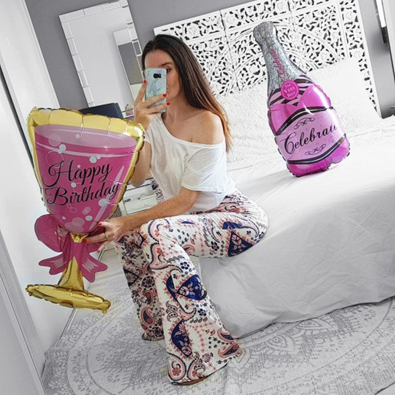 Champagne Goblet Big Helium Balloon For Wedding And Birthday Party Decorations 1