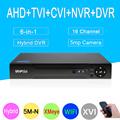 5MP камера видеонаблюдения Xmeye 5M-N Hi3521D H265 + 16CH 16 каналов 6 в 1 коаксиальный wifi Гибридный NVR CVI TVI AHD CCTV DVR