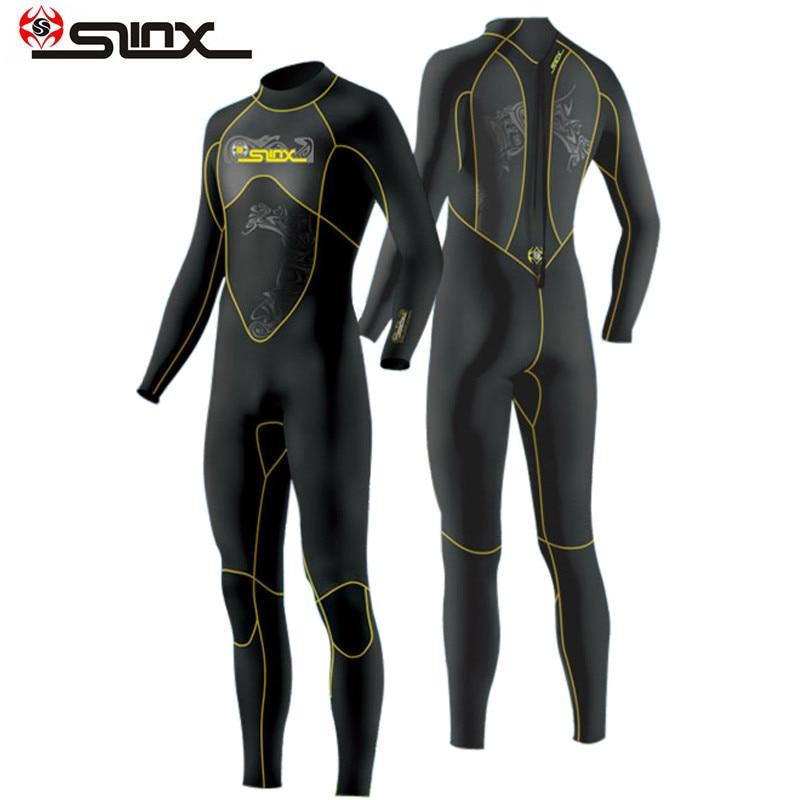 Slinx 1101 mergulho wetsuit men 3mm mergulho terno neoprene natação wetsuit surf triathlon terno molhado maiô bodysuit completo