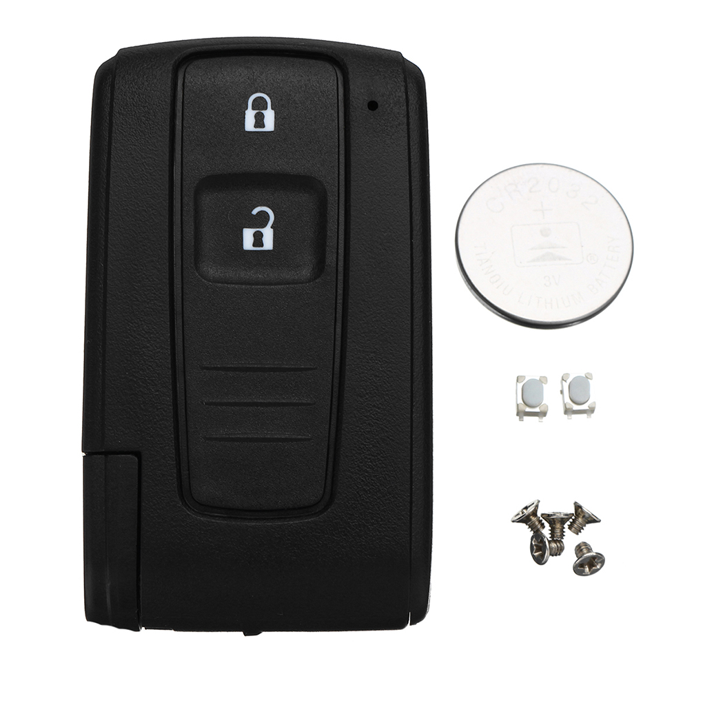 Replacement for Toyota Corolla Verso Prius Remote Key Shell Fob Case Switch Battery 2 Button Car Accessories