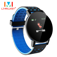 цена на Smart Watch Heart Rate Blood Pressure Health Waterproof Smart Bluetooth Wristband Fitness Tracker For Android IOS
