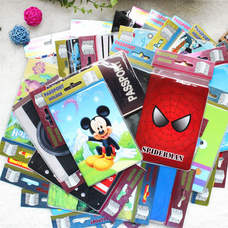 Cartoon Animal Passport Cover Travel Accessories PVC Casual Passport Holder Business Pass Holder Women Wallet Credit Id Card