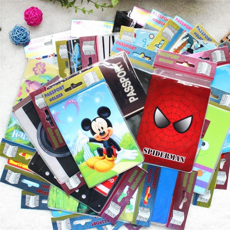 Cartoon Animal Passport Cover Travel Accessories PVC Casual Passport Holder Business Pass Holder Women Wallet Credit Id Card