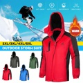 Женская лыжная куртка с флисовой подкладкой  водонепроницаемая зимняя куртка для улицы  пешего туризма  сноуборда  ветрозащитная ткань  зим...
