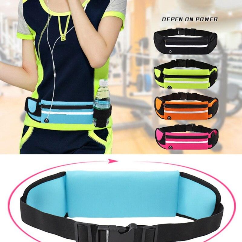 Unisex Running Waist Bag Sport Pack Waterproof Cycling Bag Belt Fanny Waist Pouch Outdoor Travel Racing Hiking Gym Fitness Bag