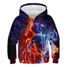 New Colorful Flame Hoodie 3D Sweatshirt Boys/Girls Hooded Autumn And Winter Coat Mens Clothing Funny Jacket Black Hoodies