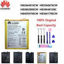 Oryginalny Huawei P9 P10 P20 Honor 8 9 Lite 10 9i 5C cieszyć się Nova Mate 2 2i 3i 5A 5X 6S 7A 7X G7 Y7 G8 G10 Plus Pro SE baterii telefonu tanie tanio 2801 mAh-3500 mAh CN (pochodzenie) HB366481ECW HB356687ECW HB386280ECW HB405979ECW HB366179ECW Nova2 Y9