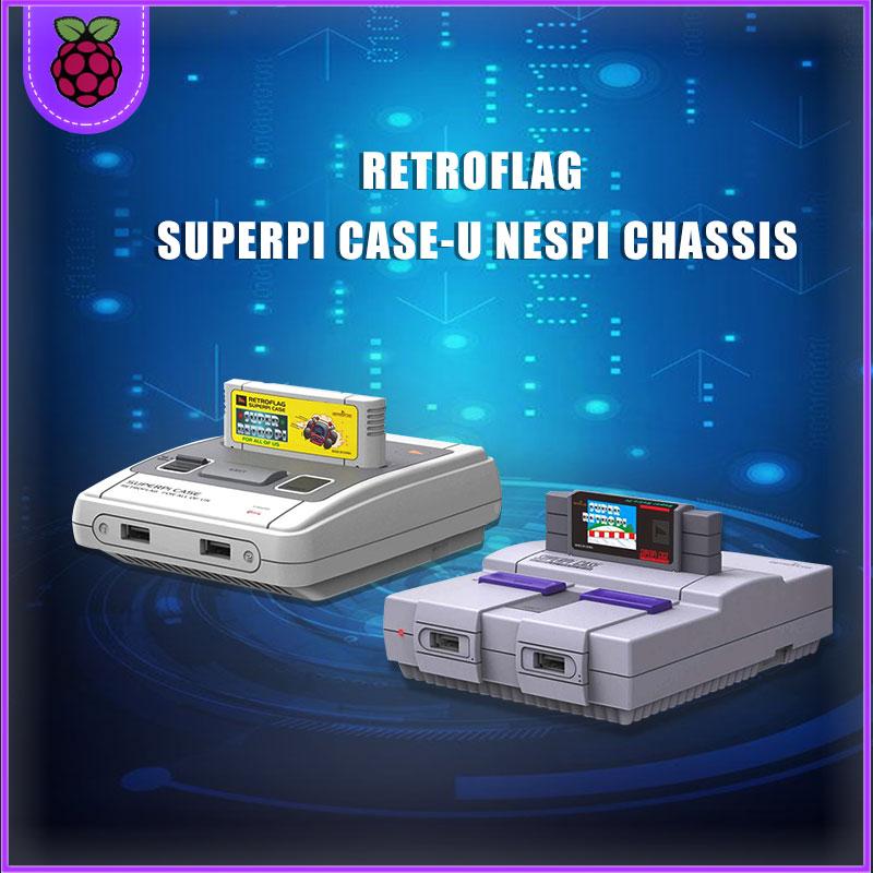 Retroflag SUPERPi CASE-J NESPi CASE/CASE-U con ventilador coelling for Raspberry Pi 3B Plus (3B +)/3B cooling fan + radiator +