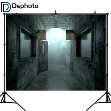 Dephoto 3D Corridor Backdrop Horror Empty Hospital Room Photography Background Halloween Party Decorations Photo Studio Props недорого