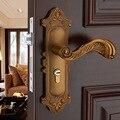 Schlafzimmer Massivholz Tür Griff Vintage Türschloss Hardware Schlösser Europäischen Stil Innen Türschloss mit einem Griff huang gu