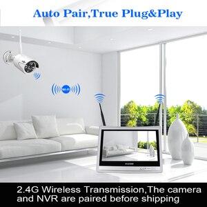 Image 2 - Hiseeu 12 表示機能4個1080 720pワイヤレスcctv ipカメラシステム8CH nvr wifiビデオ監視ホームセキュリティシステムキット