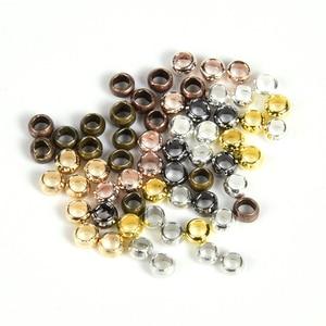 500 Pçs/lote Bola Crimp Finais Beads Stopper Spacer Beads Para A Jóia DIY Fazendo Descobertas Suprimentos