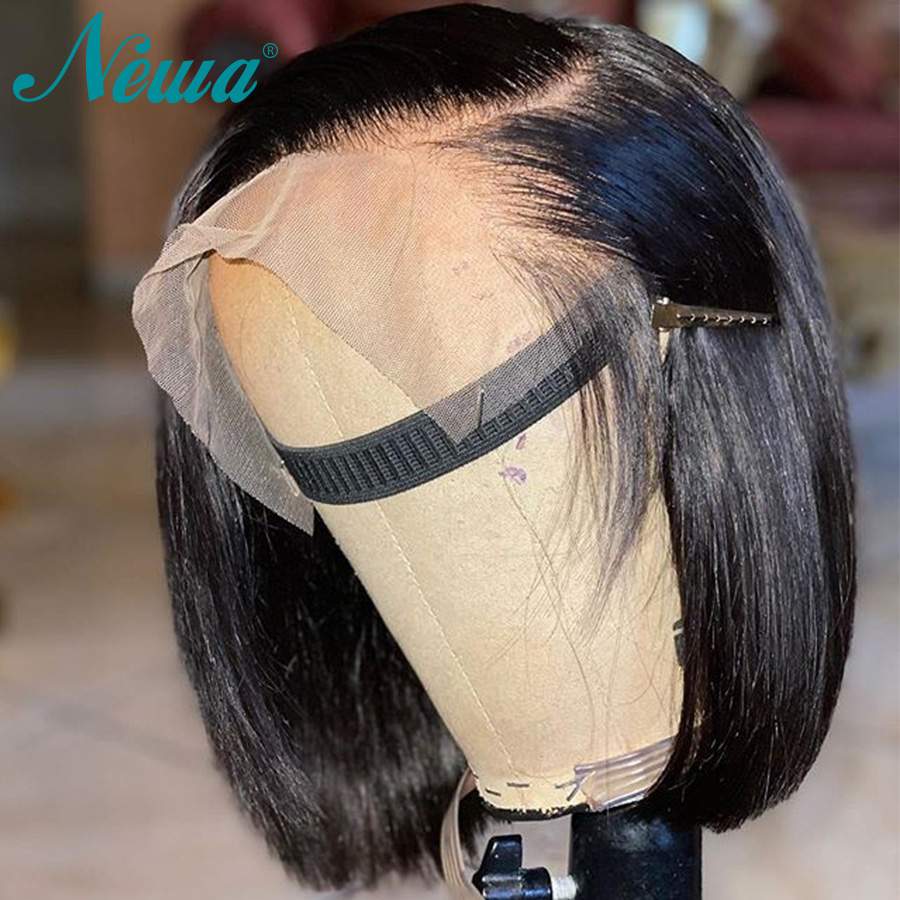Brazilian Wig Straight Short Bob Lace Front Wigs Remy Hair 13x6 Lace Front Human Hair Wigs Pre-plucked With Baby Hair Newa Hair