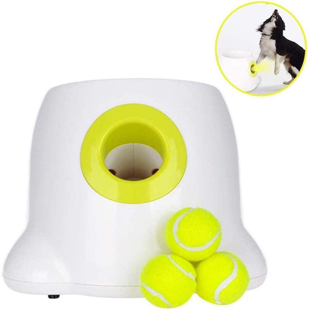 Juguetes interactivos automáticos, lanzador de pelota de tenis para perros, entrenamiento de juego para mascotas para interiores y exteriores LBShipping