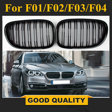 1 пара: Передняя решетка для почек, решетка для гриля, глянцевая черная/матовая черная гоночная грили для BMW 7-Series F01/F02/F03/F04 2009-2012